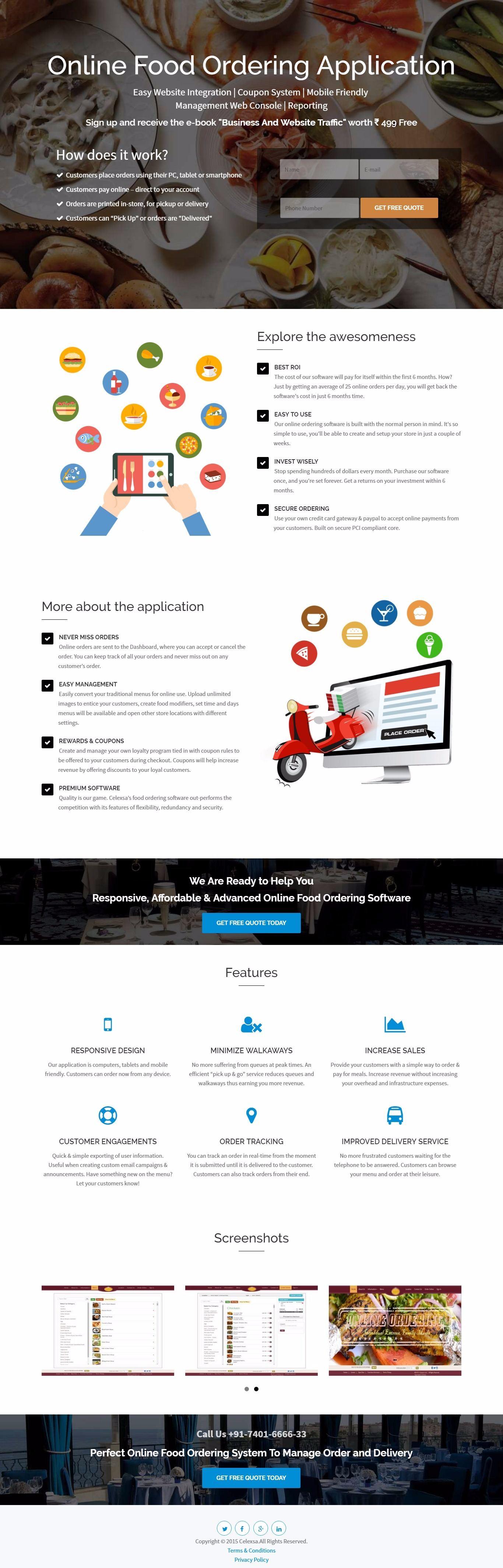 Landing Pages Celexsa Technologies